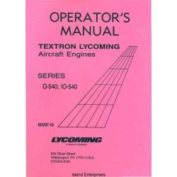 Lycoming O-540 and IO-540 Series Operators Manual 1999 Part # 60297-10 $13.95