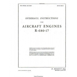 Lycoming R-680-17 Aircraft Engines Overhaul Instructions 1944 - 1945 $9.95