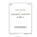 Lycoming R-680-17 Aircraft Engines Parts Catalog 1944 $9.95