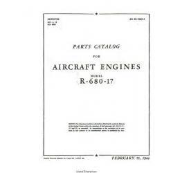 Lycoming R-680-17 Aircraft Engines Parts Catalog 1944 $9.95