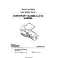 Lycoming SSP-490 Light Weight Starter Component Maintenance Manual 1991 $6.95