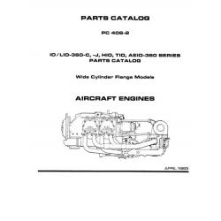 Lycoming  IO, LIO-360-C, -J, HIO, TIO, AEIO -360 Series Parts Catalog $14.95