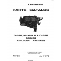 Lycoming O-320, IO-320 & LIO-320 1970 Parts Catalog $12.95