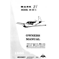 Mooney Mark 21 M20C OWNER'S MANUAL 1966 $14.95