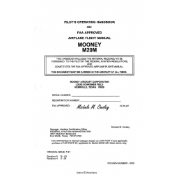 Mooney M20M 3502A Pilots Operating Handbook 1991 $13.95