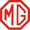 "MG Car Automobile Vinyl Sticker/Decal 5"" wide by 4.98"" high!"