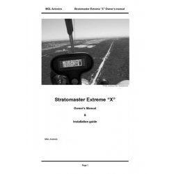 "MGL Avionics Stratomaster Extreme ""X"" Owner's Manual & Installation Guide $9.95"