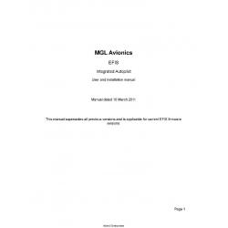 MGL Avionics Integtated Autopilot User and Installation Manual 2011 $4.95