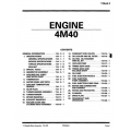 Mitsubishi 4M40  Engine Manual $19.95