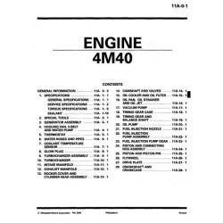 Mitsubishi 4M40 Engine Manual $19 95