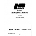 Piper Saratoga Maintenance Manual  $19.95 Part # 761-721