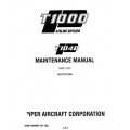 Piper Commuter Liner Maintenance Manual PA-31T3 T1040 $13.95 Part # 761-765