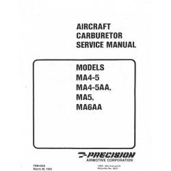 Marvel-Schebler Aircraft Carburetor Service Manual models MA4-5, MA4-5, MA4-5AA, MA5, MA6AA 1993   $ 4.95