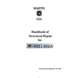 Martin M-202 & 202A Handbook of Structural Repair Manual 1954 $5.95