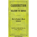 Marvel Carburetor Overhaul Booklet 1929 $4.95