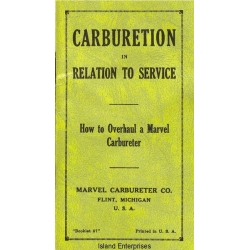 Marvel Carburetor Overhaul Booklet 1929
