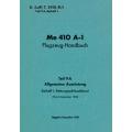 Me 410 A-1 Teil 9A Flugzeug-Handbuch $2.95