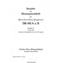Daimler DB-601 A u. B Ausgabe C Mercedes Benz Flugmotor