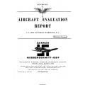 Messerschmitt Me-109F Aircraft Evaluation Report
