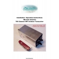 Microair Avionics 760 Channel VHF Aviation Transceiver Installation/ Operation Instructions $9.95