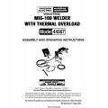 Mig-100 Welder with Thermal Overload Model 44567 Assembly and Operating Instructions 2003 $4.95