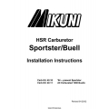 Mikuni Sportster/Buell Motorcycles HSR Series Carburetor Installation Instructions 2002 $4.95