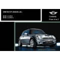 Mini Cooper and Cooper S Owner's Manual 2002 $5.95