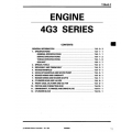 Mitsubishi 4G3 Series Engine Workshop Manual