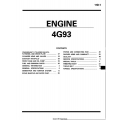 Mitsubishi 4G93 Engine Overhaul Manual 1990 - 1994 $4.95