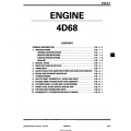 Mitsubishi 4D68  Engine Manual $19.95