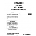 Mitsubishi 4G1 Series Engine Workshop Manual
