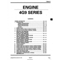Mitsubishi 4G9 Series Engine Workshop Manual