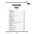 Mitsubishi 4M41  Engine Manual $19.95