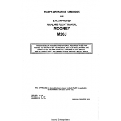Mooney M20J Pilot's Operating Handbook 1996 - 1997 Manual # 3203 $13.95