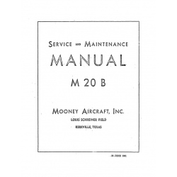 Mooney M20B Service and Maintenance Manual $13.95