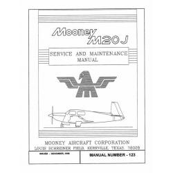 Mooney M20J Service & Maintenance Manual $13.95