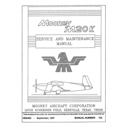 Mooney M20K Service & Maintenance Manual $13.95