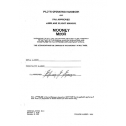 Mooney M20R Pilots Operating Handbook 1994 $13.95