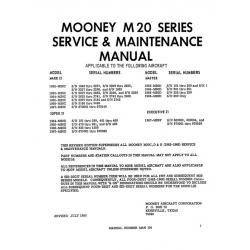 Mooney M20 Series Mark 21 M20C 62-67, Master M20D 63-66, Super 21 M20E 64-67 & Executive 21 M20F 1967 Service & Maintenance Manual $19.95