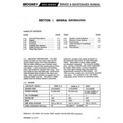 Mooney M20 Series Service & Maintenance Manual Models M20C & G, M20E & F & M20J $19.95