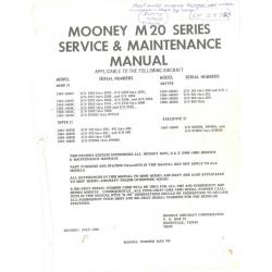 Mooney M20 Series Service & Maintenance Manual 38348282 $13.95