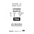 Mooney Super 21 M20E Owners Manual $13.95