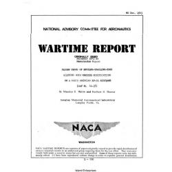 NACA North American XP-51 Airplane Flight Tests of Beveled Trailing Edge $4.95