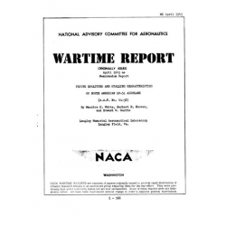 NACA XP-51 Airplane Flying Qualities and Stalling Characteristics Wartime Report $4.95