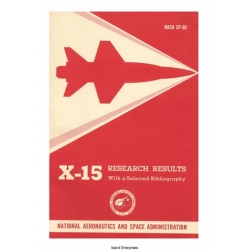 NASA SP-60 X-15 Research Results With a Selected Bibliography 1965 $4.95