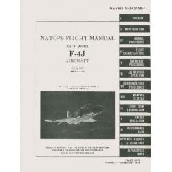 McDonnell F-4J Natops  Navy Aircraft Flight Manual POH 1975-1978 $24.95