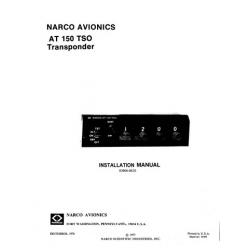 Narco-AT-150-TSO  AT 150 TSOTransponder Installation Manual 03606-0620 1976 - 1980 03606-0620