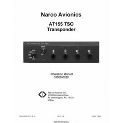 Narco AT155 TSO Transponder Installation Manual 03608-0620 2002 03608-0620