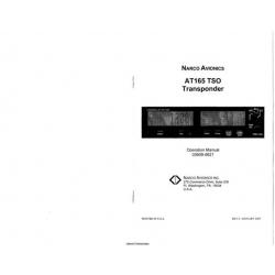 Narco Avionics AT165 TSO Transponder Operation Manual 03609-0621 2005