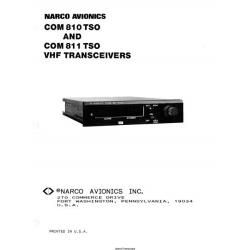 Narco COM 810 TSO and COM 811 TSO VHF Transceiver Installation Manual 1981